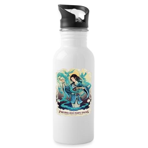 Pneuma Has Many Faces - Trinkflasche mit integriertem Trinkhalm