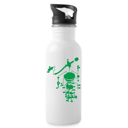 tonearm05 - Drinkfles met geïntegreerd rietje