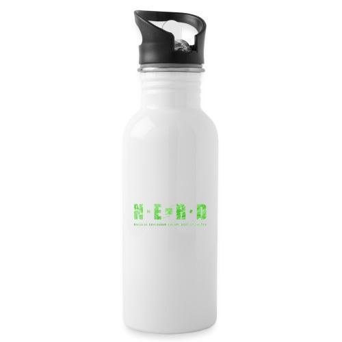 NERD Green - Drikkeflaske med integreret sugerør