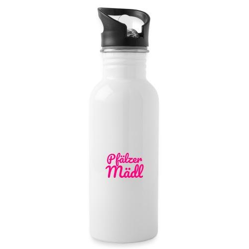 Herzl: Pfälzer Mädl - Trinkflasche mit integriertem Trinkhalm