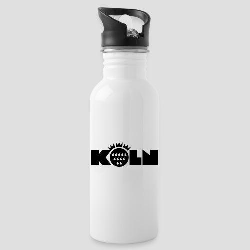 Köln Wappen modern - Trinkflasche mit integriertem Trinkhalm