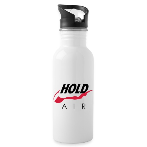 Just hold it! - Water bottle with straw
