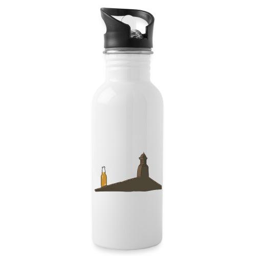 Habemus Beer Hoodies - Trinkflasche mit integriertem Trinkhalm