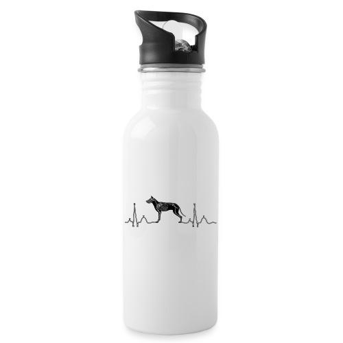 ECG met hond - Drinkfles met geïntegreerd rietje