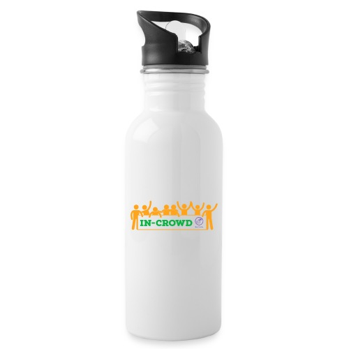In-crowd (orange) - Water bottle with straw
