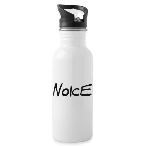 Noice - Black logo - Vattenflaska med integrerat sugrör