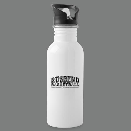 Rusbend Logo Schwarz - Trinkflasche mit integriertem Trinkhalm