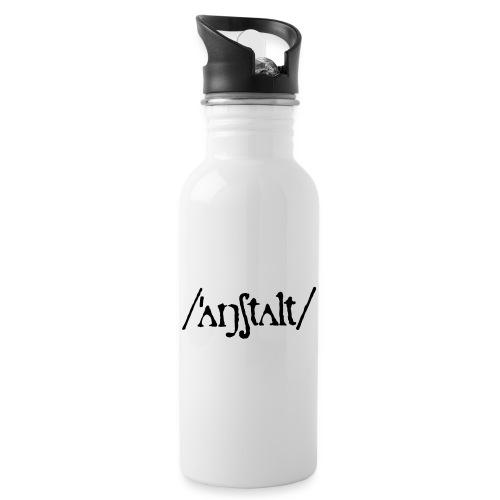 /'angstalt/ logo - Trinkflasche mit integriertem Trinkhalm