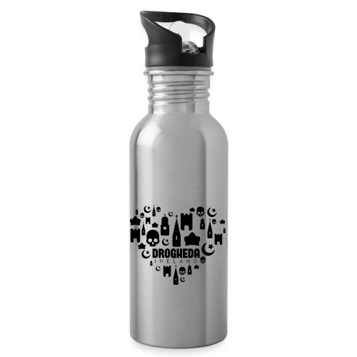 Drogheda Black - Water bottle with straw
