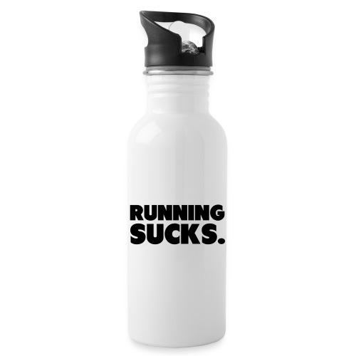 Running Sucks - Juomapullo, jossa pilli