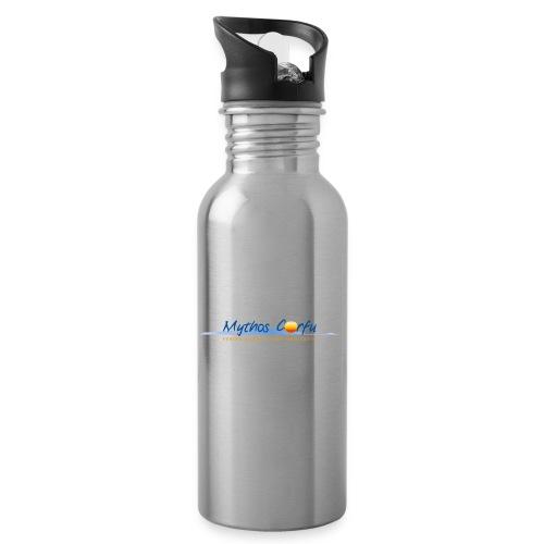 Mythos Corfu Griechenland - Trinkflasche mit integriertem Trinkhalm