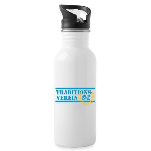 Traditionsverein - Trinkflasche mit integriertem Trinkhalm