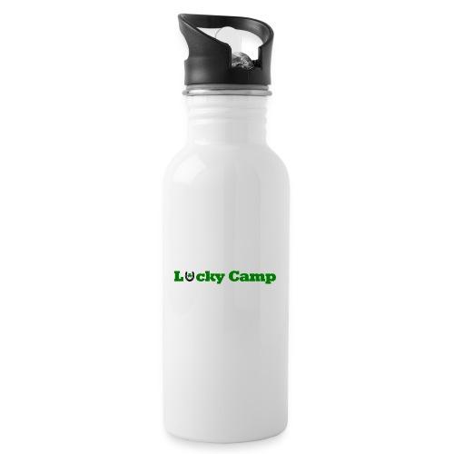 Glücksbringer Camp - Trinkflasche mit integriertem Trinkhalm