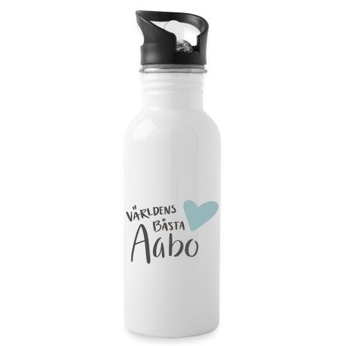 Världens bästa Aabo - Vattenflaska med integrerat sugrör