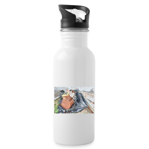 Trash 1 - Drikkeflaske med integreret sugerør