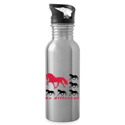 be different - Trinkflasche mit integriertem Trinkhalm