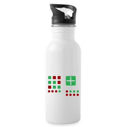 Classic Computer 2 - Trinkflasche mit integriertem Trinkhalm