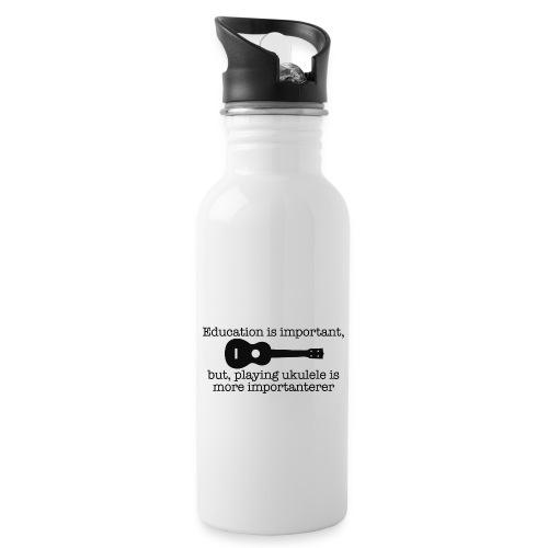 Important Ukulele - Water bottle with straw