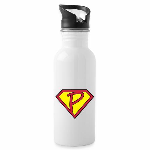 superp 2 - Trinkflasche mit integriertem Trinkhalm