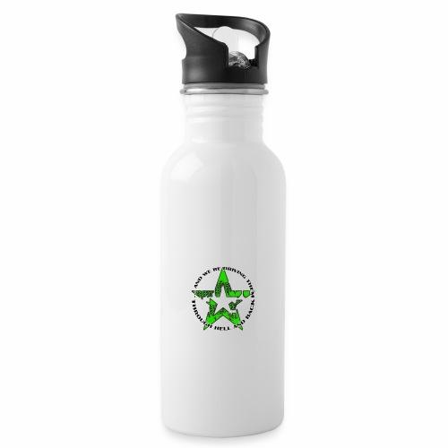 ra star slogan slime png - Trinkflasche mit integriertem Trinkhalm