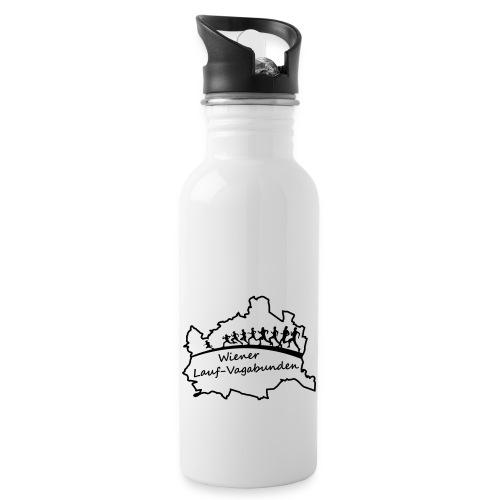 Laufvagabunden T Shirt - Trinkflasche mit integriertem Trinkhalm