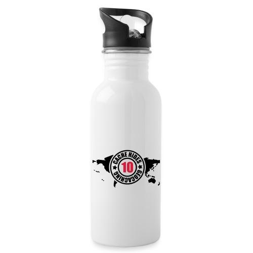 cache hides - 10 - Trinkflasche mit integriertem Trinkhalm