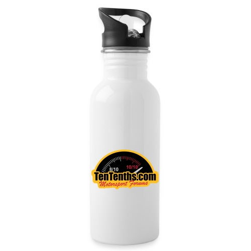 3Colour_Logo - Water bottle with straw
