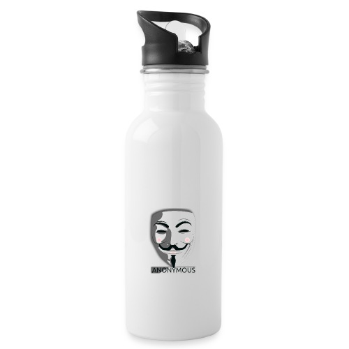 Anonymous - Water bottle with straw