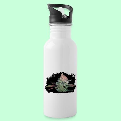 Pflänzchen png - Trinkflasche mit integriertem Trinkhalm