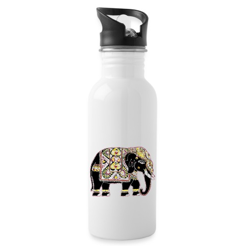 Indian elephant for luck - Water bottle with straw