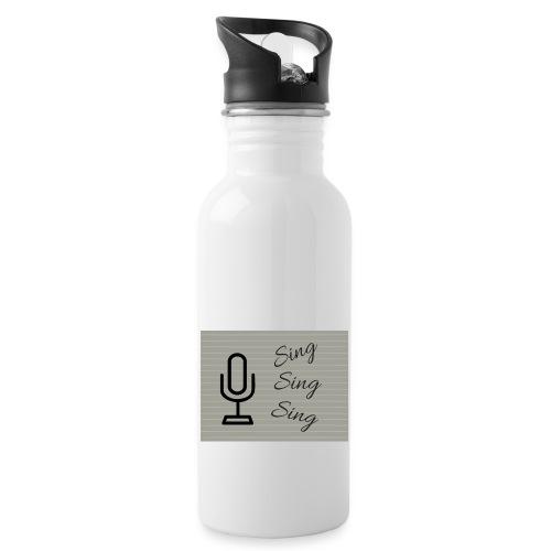 Sing Sing Sing - Water bottle with straw