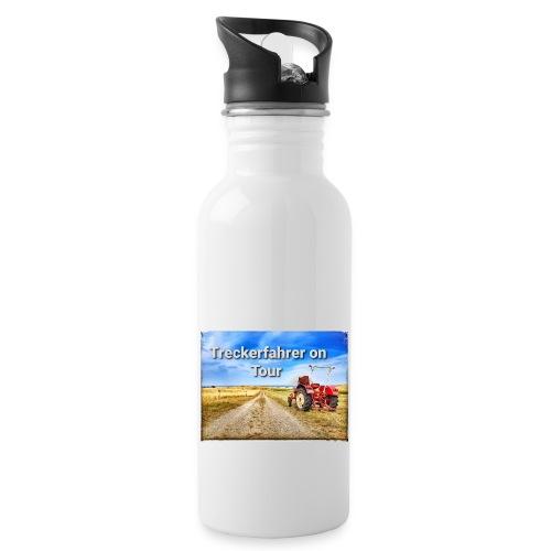 Treckerfahrer on Tour - Trinkflasche mit integriertem Trinkhalm