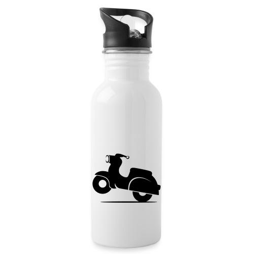 Schwalbe knautschig - Trinkflasche mit integriertem Trinkhalm