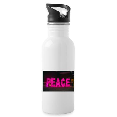 paz - Botella cantimplora con pajita integrada