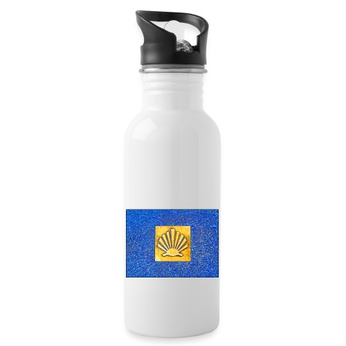 Scallop Shell Camino de Santiago - Water bottle with straw