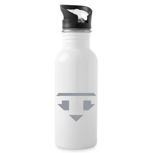 Twanneman logo Reverse - Drinkfles met geïntegreerd rietje