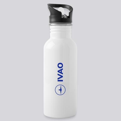 IVAO (Logo bleu complet) - Gourde avec paille intégrée