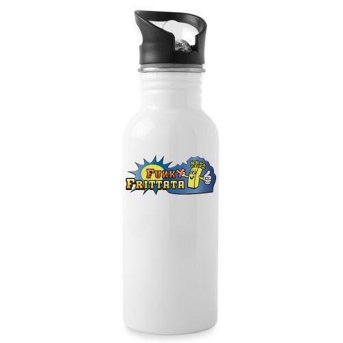 FF_Logo_Var01 HiRes - Trinkflasche mit integriertem Trinkhalm