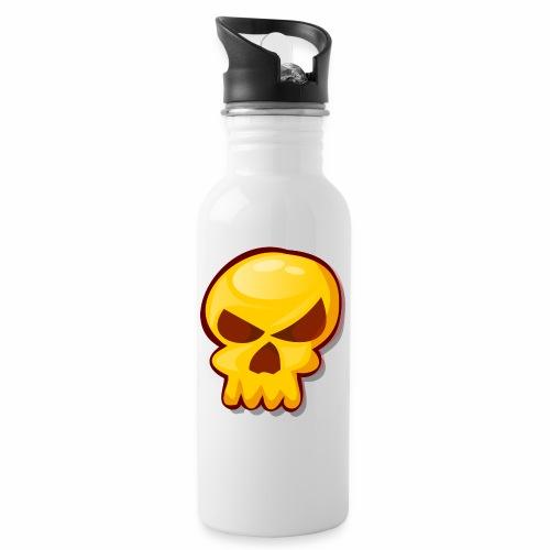 Golden Skull - Botella cantimplora con pajita integrada