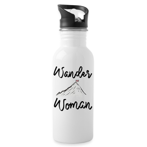 Wanderwoman - Trinkflasche mit integriertem Trinkhalm