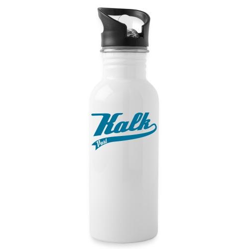 Kalk Post Classic - Trinkflasche mit integriertem Trinkhalm