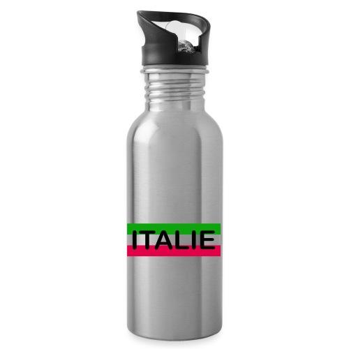 Drapeau Italia - Gourde avec paille intégrée