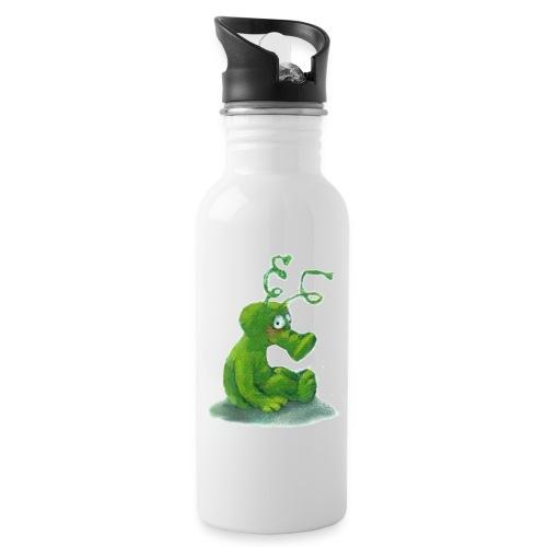 Marsmännchen jpg - Trinkflasche mit integriertem Trinkhalm