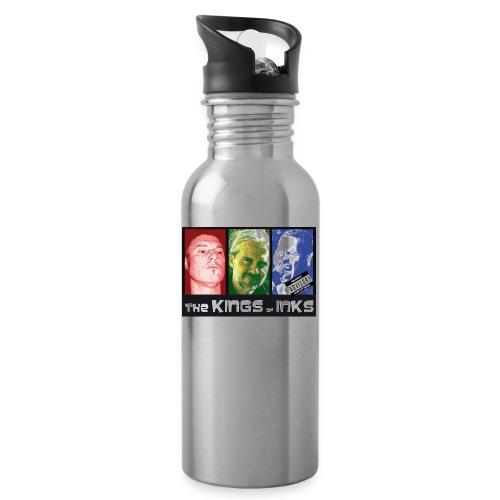 The Kings of Inks Explicit Music nur schwarz jpg - Trinkflasche mit integriertem Trinkhalm