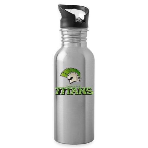 Titans Logo - Trinkflasche mit integriertem Trinkhalm