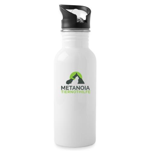 MetanoiaTiernothilfefinal png - Trinkflasche mit integriertem Trinkhalm