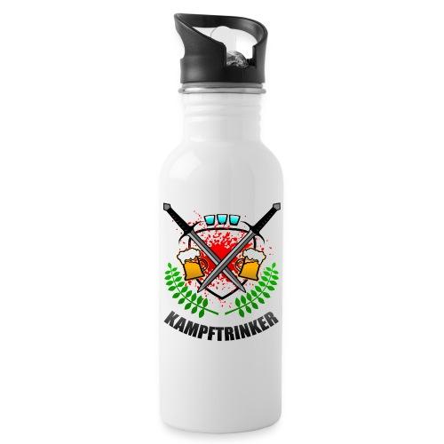 Kampftrinker Sauftour Team Bier Schnaps - Trinkflasche mit integriertem Trinkhalm