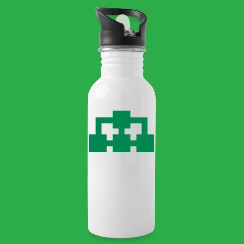 BiG Network ikon grön - Vattenflaska med integrerat sugrör