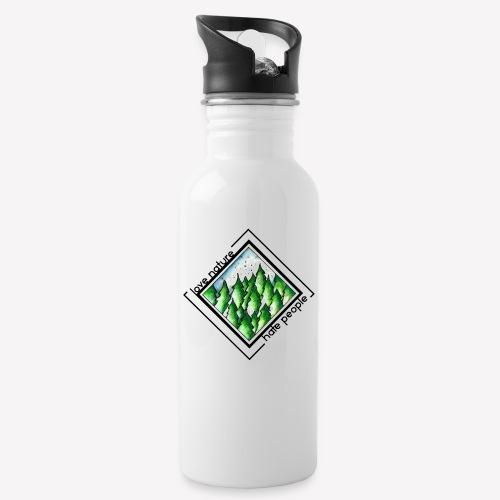 Love Nature - Trinkflasche mit integriertem Trinkhalm