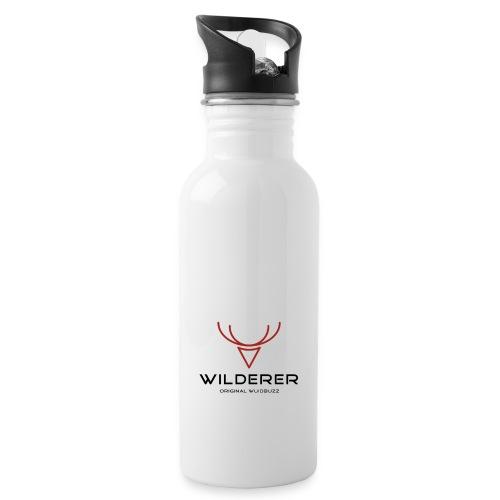 WUIDBUZZ   Wilderer   Männersache - Trinkflasche mit integriertem Trinkhalm